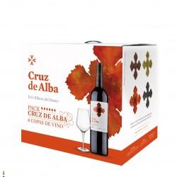 Pack Cruz de Alba Crianza + 6 copas de vino